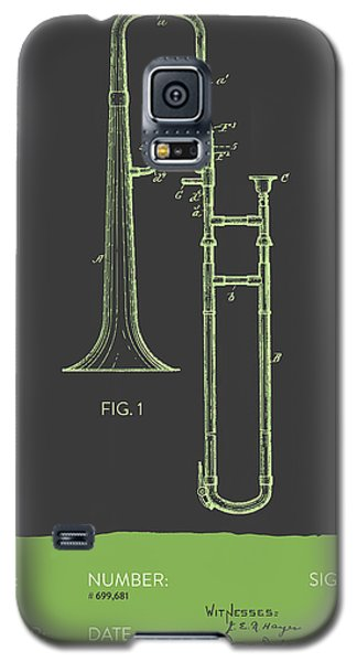 Trombone Patent From 1902 - Modern Gray Green Galaxy S5 Case by Aged Pixel