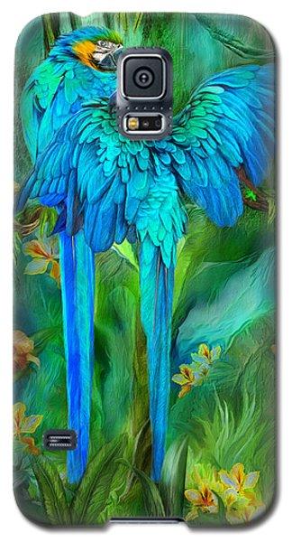Tropic Spirits - Gold And Blue Macaws Galaxy S5 Case by Carol Cavalaris