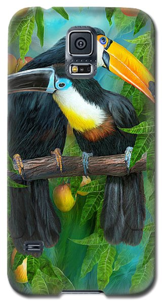 Tropic Spirits - Toucans Galaxy S5 Case by Carol Cavalaris