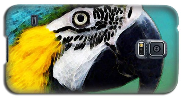 Tropical Bird - Colorful Macaw Galaxy S5 Case by Sharon Cummings