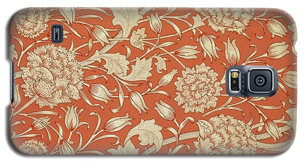 Tapestries - Textiles Galaxy S5 Cases - Tulip wallpaper design Galaxy S5 Case by William Morris