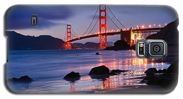 Twilight - Beautiful Sunset View Of The Golden Gate Bridge From Marshalls Beach. Galaxy S5 Case by Jamie Pham