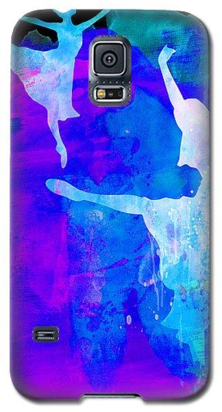 Recently Sold -  - Buy Galaxy S5 Cases - Two Ballerinas Watercolor 3 Galaxy S5 Case by Naxart Studio