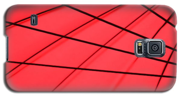 Red And Black Abstract Galaxy S5 Case by Tony Grider