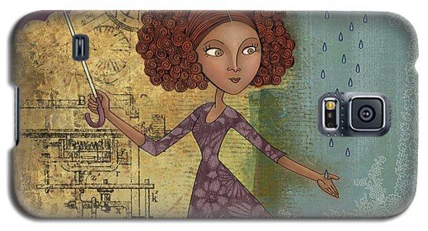 Umbrella Girl Galaxy S5 Case by Karyn Lewis Bonfiglio