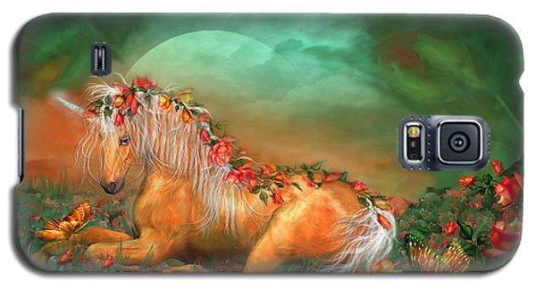 Unicorn Of The Roses Galaxy S5 Case by Carol Cavalaris
