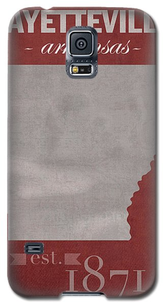 University Of Arkansas Razorbacks Fayetteville College Town State Map Poster Series No 013 Galaxy S5 Case by Design Turnpike