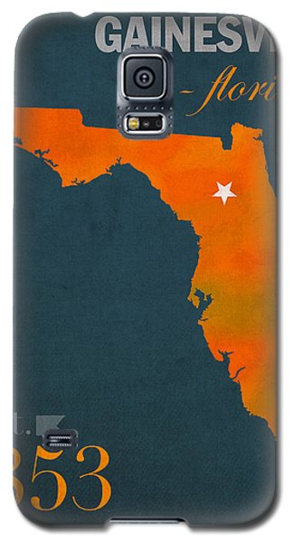University Of Florida Gators Gainesville College Town Florida State Map Poster Series No 003 Galaxy S5 Case by Design Turnpike