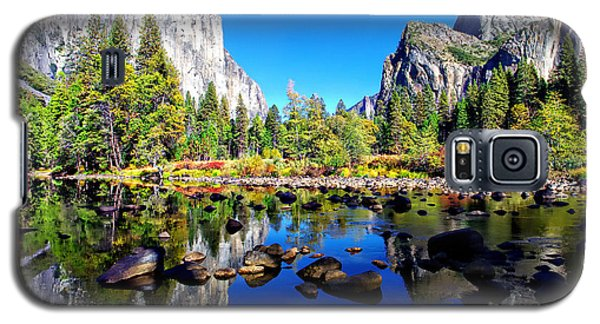 Valley View Reflection Yosemite National Park Galaxy S5 Case by Scott McGuire