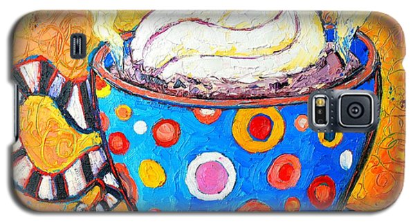 Viennese Cappuccino Whimsical Colorful Coffee Cup Galaxy S5 Case by Ana Maria Edulescu