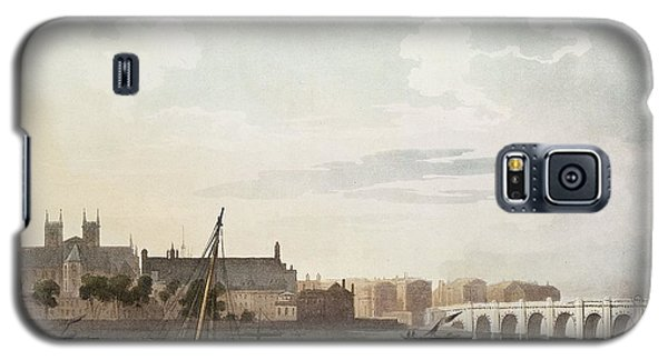 View Of Westminster And The Bridge Wc On Paper Galaxy S5 Case by English School