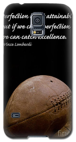 Vince Lombardi On Perfection Galaxy S5 Case by Edward Fielding