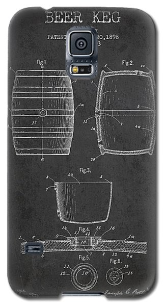 Vintage Beer Keg Patent Drawing From 1898 - Dark Galaxy S5 Case by Aged Pixel