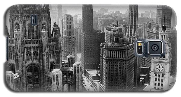 Vintage Chicago Skyline Galaxy S5 Case by Horsch Gallery