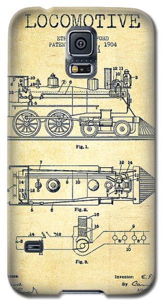 Vintage Locomotive Patent From 1904 - Vintage Galaxy S5 Case by Aged Pixel