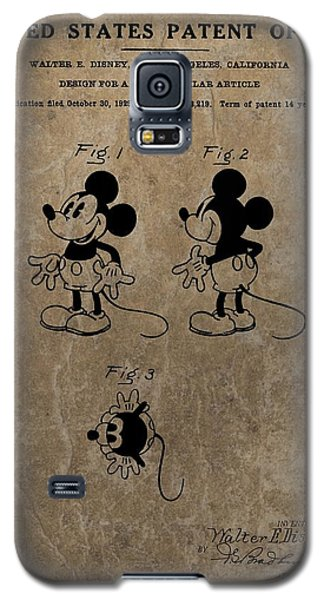 Vintage Mickey Mouse Patent Galaxy S5 Case by Dan Sproul
