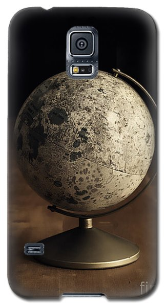 Moon Galaxy S5 Cases - Vintage Moon Globe Galaxy S5 Case by Edward Fielding