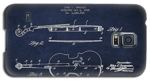 Vintage Violin Patent Drawing From 1928 Galaxy S5 Case by Aged Pixel