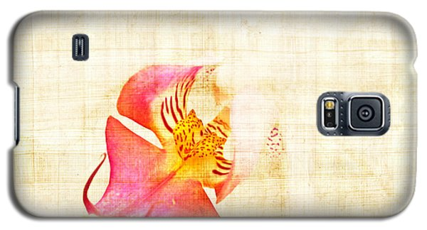Vintage White Orchid Galaxy S5 Case by Delphimages Photo Creations
