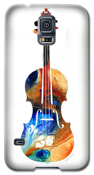 Music Galaxy S5 Cases - Violin Art by Sharon Cummings Galaxy S5 Case by Sharon Cummings
