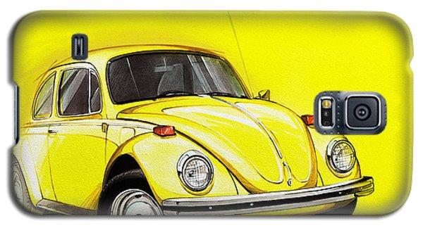 Volkswagen Beetle Vw Yellow Galaxy S5 Case by Etienne Carignan