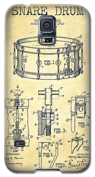 Waechtler Snare Drum Patent Drawing From 1910 - Vintage Galaxy S5 Case by Aged Pixel