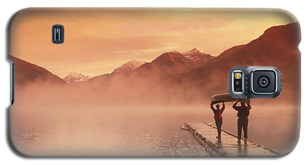 Walking On Dock Robe Lake  Sunrise Sc Galaxy S5 Case by Michael DeYoung