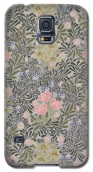 Tapestries - Textiles Galaxy S5 Cases - Wallpaper design with Tulips Daisies and Honeysuckle  Galaxy S5 Case by William Morris
