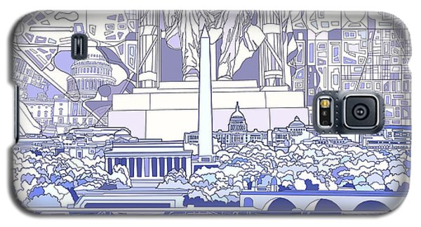 Washington Dc Skyline Abstract 3 Galaxy S5 Case by Bekim Art