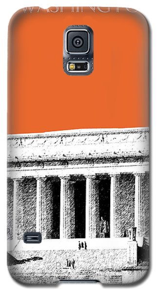 Washington Dc Skyline Lincoln Memorial - Coral Galaxy S5 Case by DB Artist