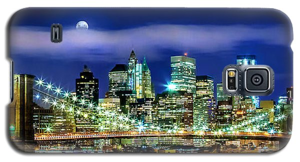 Skylines Galaxy S5 Cases - Watching Over New York Galaxy S5 Case by Az Jackson