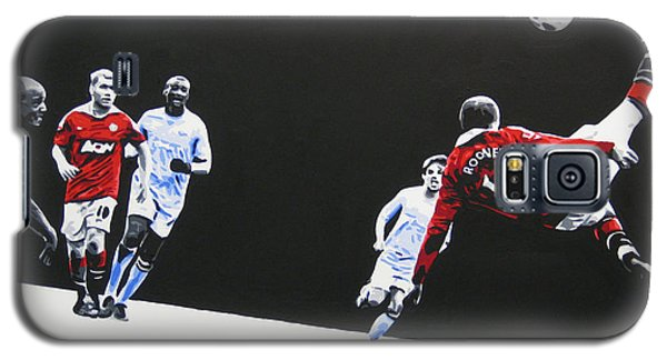 Wayne Rooney - Manchester United Fc Galaxy S5 Case by Geo Thomson