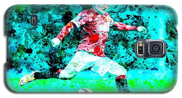Wayne Rooney Splats Galaxy S5 Case by Brian Reaves