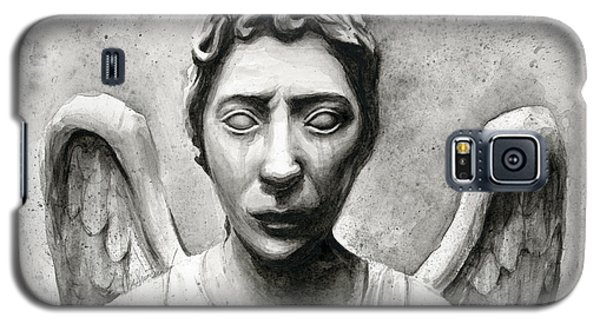 Weeping Angel Don't Blink Doctor Who Fan Art Galaxy S5 Case by Olga Shvartsur