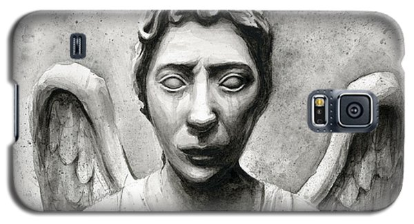 Science Fiction Galaxy S5 Cases - Weeping Angel Dont Blink Doctor Who Fan Art Galaxy S5 Case by Olga Shvartsur