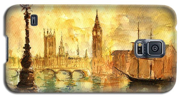 Westminster Palace London Thames Galaxy S5 Case by Juan  Bosco
