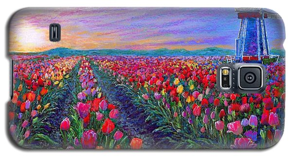 Tulip Fields, What Dreams May Come Galaxy S5 Case by Jane Small