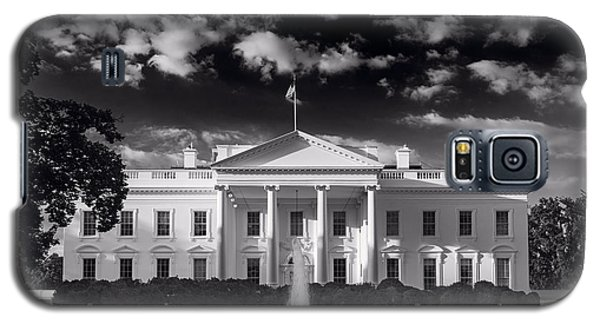 White House Sunrise B W Galaxy S5 Case by Steve Gadomski