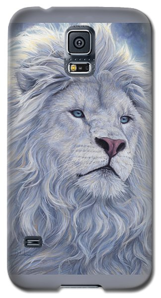 White Lion Galaxy S5 Case by Lucie Bilodeau