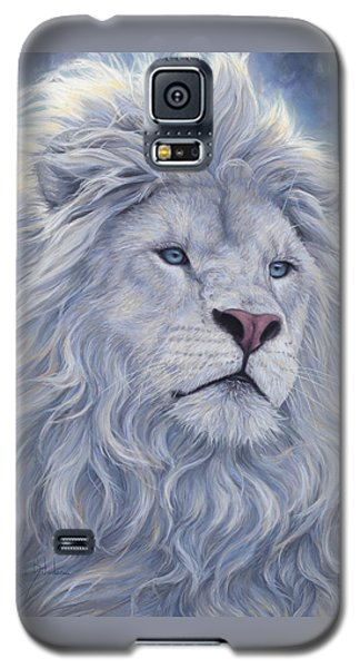Animals Galaxy S5 Cases - White Lion Galaxy S5 Case by Lucie Bilodeau