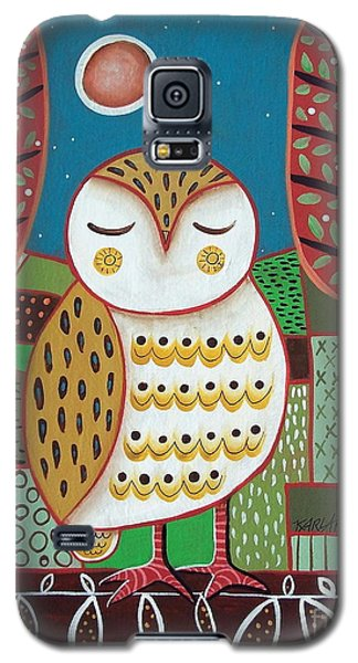 White Owl Galaxy S5 Case by Karla Gerard