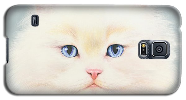 Portraits Galaxy S5 Cases - White Persian Galaxy S5 Case by Andrew Farley