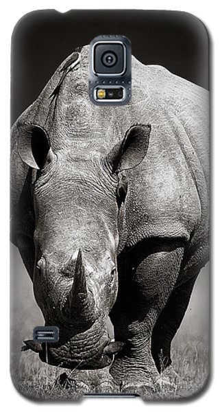 Recently Sold -  - Buy Galaxy S5 Cases - White Rhinoceros  in due-tone Galaxy S5 Case by Johan Swanepoel