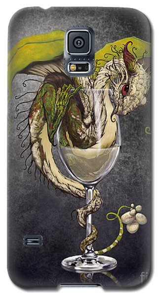 White Wine Dragon Galaxy S5 Case by Stanley Morrison