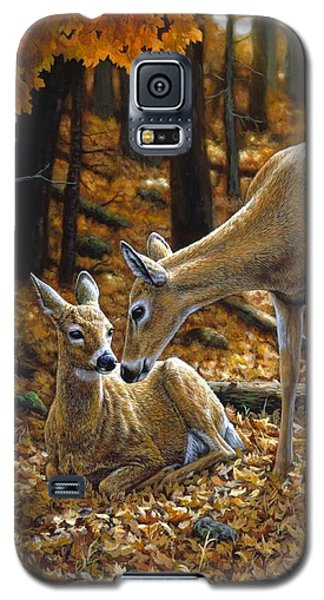 Whitetail Deer - Autumn Innocence 2 Galaxy S5 Case by Crista Forest