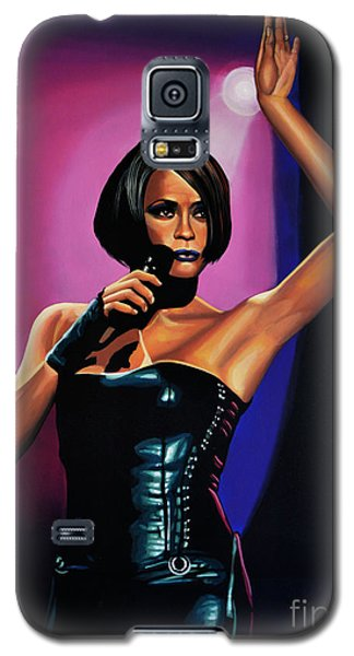 Whitney Houston On Stage Galaxy S5 Case by Paul Meijering