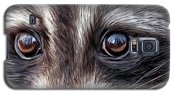 Wild Eyes - Raccoon Galaxy S5 Case by Carol Cavalaris