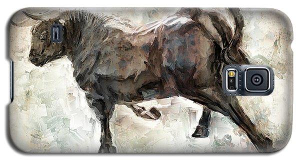 Wild Raging Bull Galaxy S5 Case by Daniel Hagerman