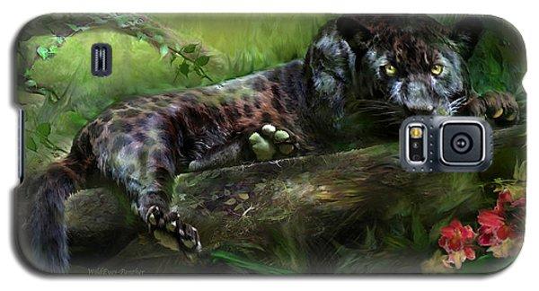 Wildeyes - Panther Galaxy S5 Case by Carol Cavalaris