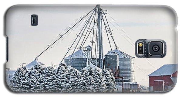 Winter Farm  7365 Galaxy S5 Case by Jack Schultz